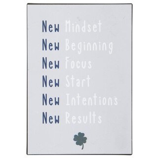 ib laursen Metallschild New Mindset New Beginning